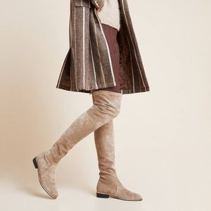 Light Brown Over the Knee Boots